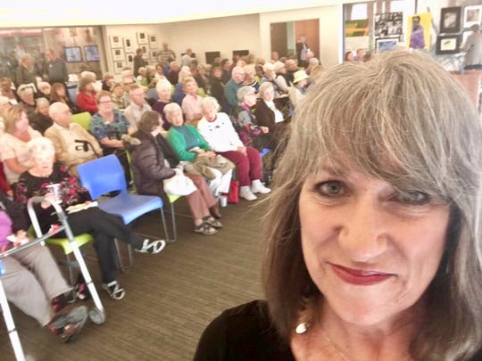 I spoke to this wonderful audience of 120 on March 13 at the Tempe History Museum about women in the newsroom, invoking the spirit of former women's editor Maggie Savoy and reporter extraordinaire Connie Midey.