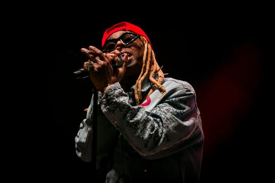Lil Wayne performed at Pot of Gold Music Festival at Steele Indian School Park on Saturday, March 16, 2019.