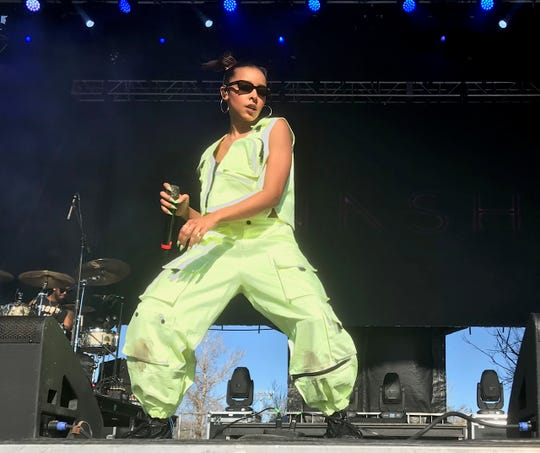 Tinashe performs at Pot of Gold Music Festival at Steele Indian School Park in Phoenix on Saturday, March 16.