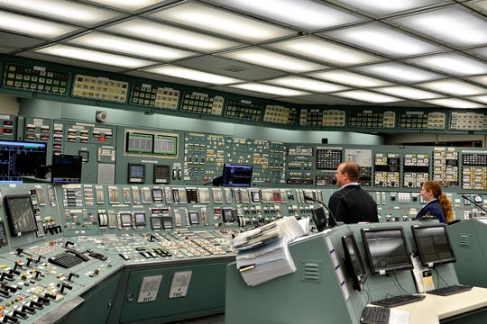The control room at the Three Mile Island nuclear power facility. January 31, 2018.