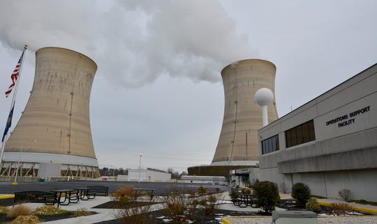 Photos of the Three Mile Island nuclear power facility. January 31, 2018.