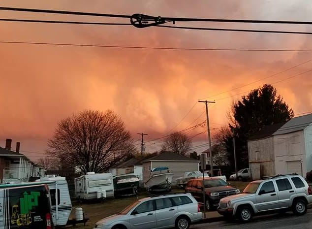 Heidi Wolak caught these orange clouds in Red Lion.