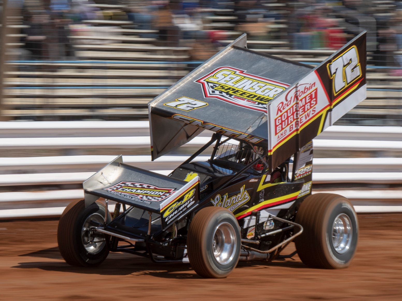 Rayan Smith in the #72 car came in first during the third heat of the Williams Grove season opener for 410 sprints Sunday March 17, 2019.
