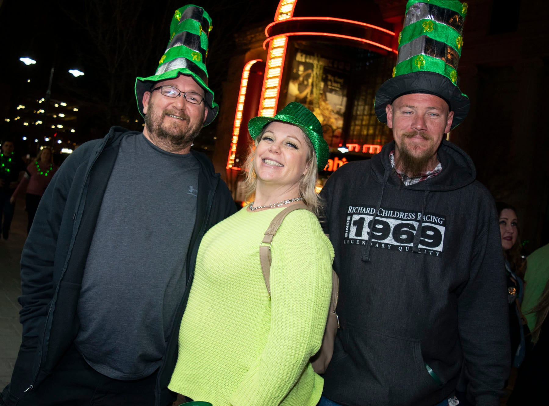 Crawlers grab their shamrocks and their pots of gold for the 2019 Leprechaun Crawl on Saturday, March 16, 2019. Reno, Nev.