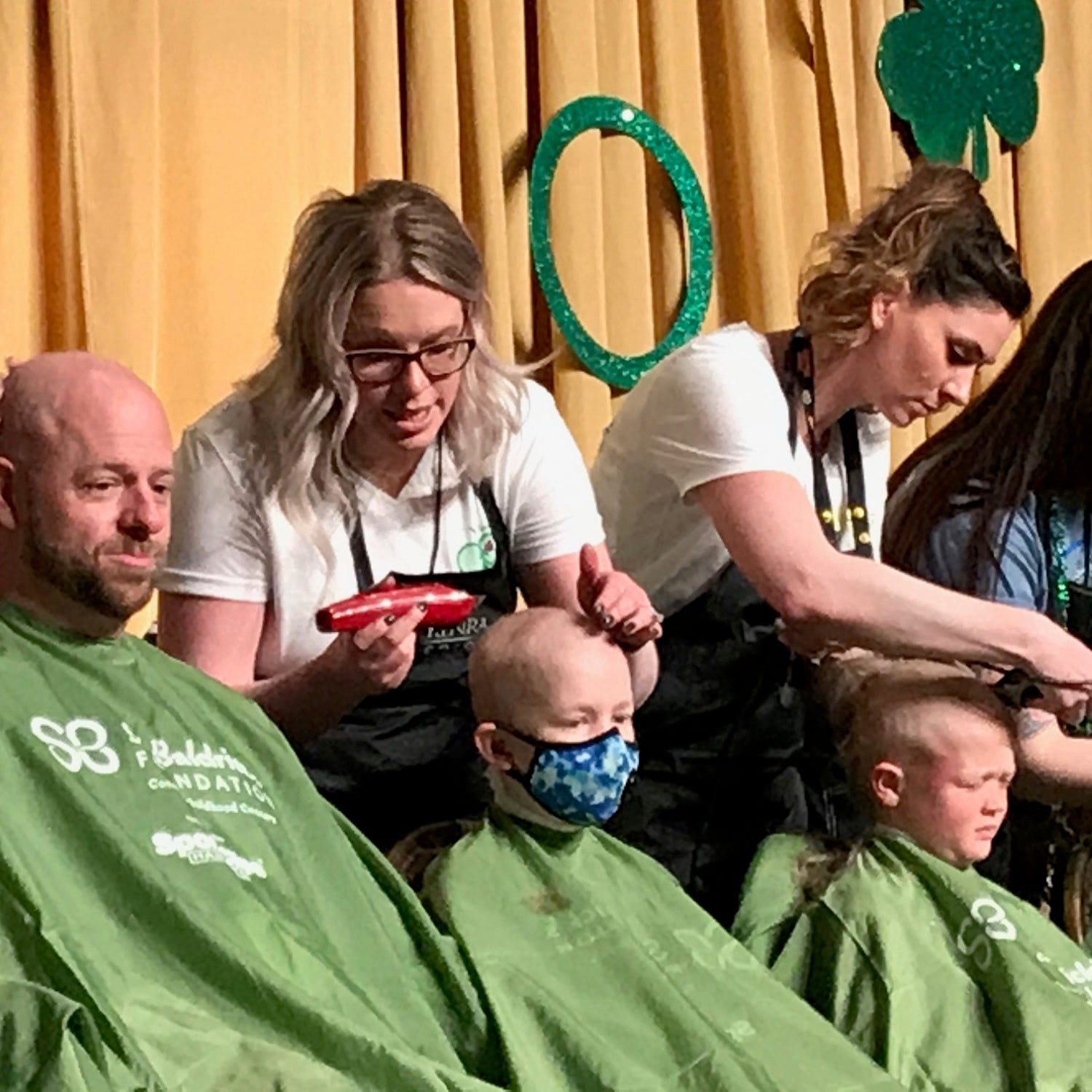St. Baldrick's shavee: 'Some people are bald, but not by choice'