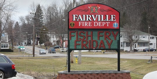 Fish fries are a big draw at the Fairville Volunteer Fire Department during the seven Fridays of Lent.