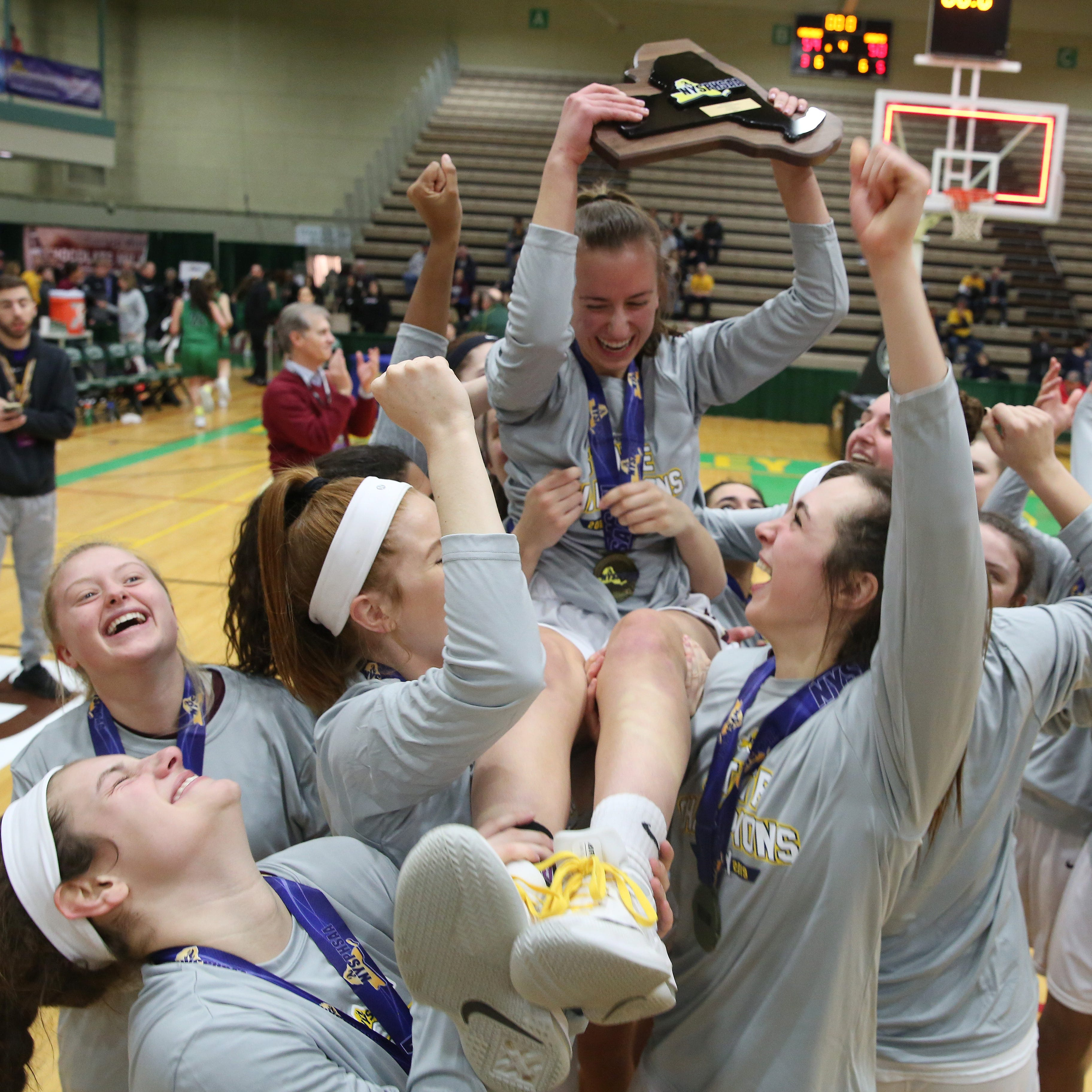Pittsford Mendon girls grab elusive basketball state title