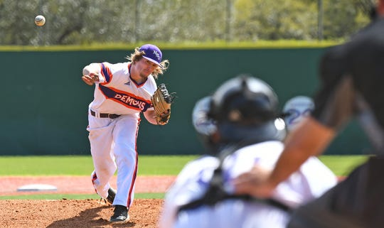 Nathan Jones (pitching) and Jakob Nunez (hitting) powered Northwestern State to an 8-1 win against New Orleans on Sunday.