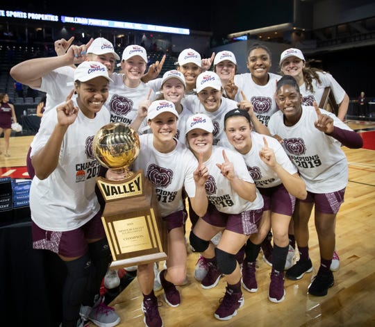 The Lady Bears defeated Drake in the final of the MVC Tournament in Moline, Ill on Sunday, March 17, 2019. Jesse Scheve/Missouri State University