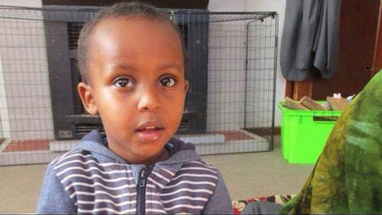 In this undated photo supplied by Abdi Ibrahim, shows a photo of his three-year-old brother, Mucaad, who is the youngest known victim of the mass shooting in Christchurch, New Zealand on Friday, March 15, 2019. His older brother, Abdi Ibrahim, said police confirmed to the family that the toddler had been killed in the attack. Mucaad was at the Al Noor mosque with Abdi and their father on Friday when a gunman stormed in and began shooting people.