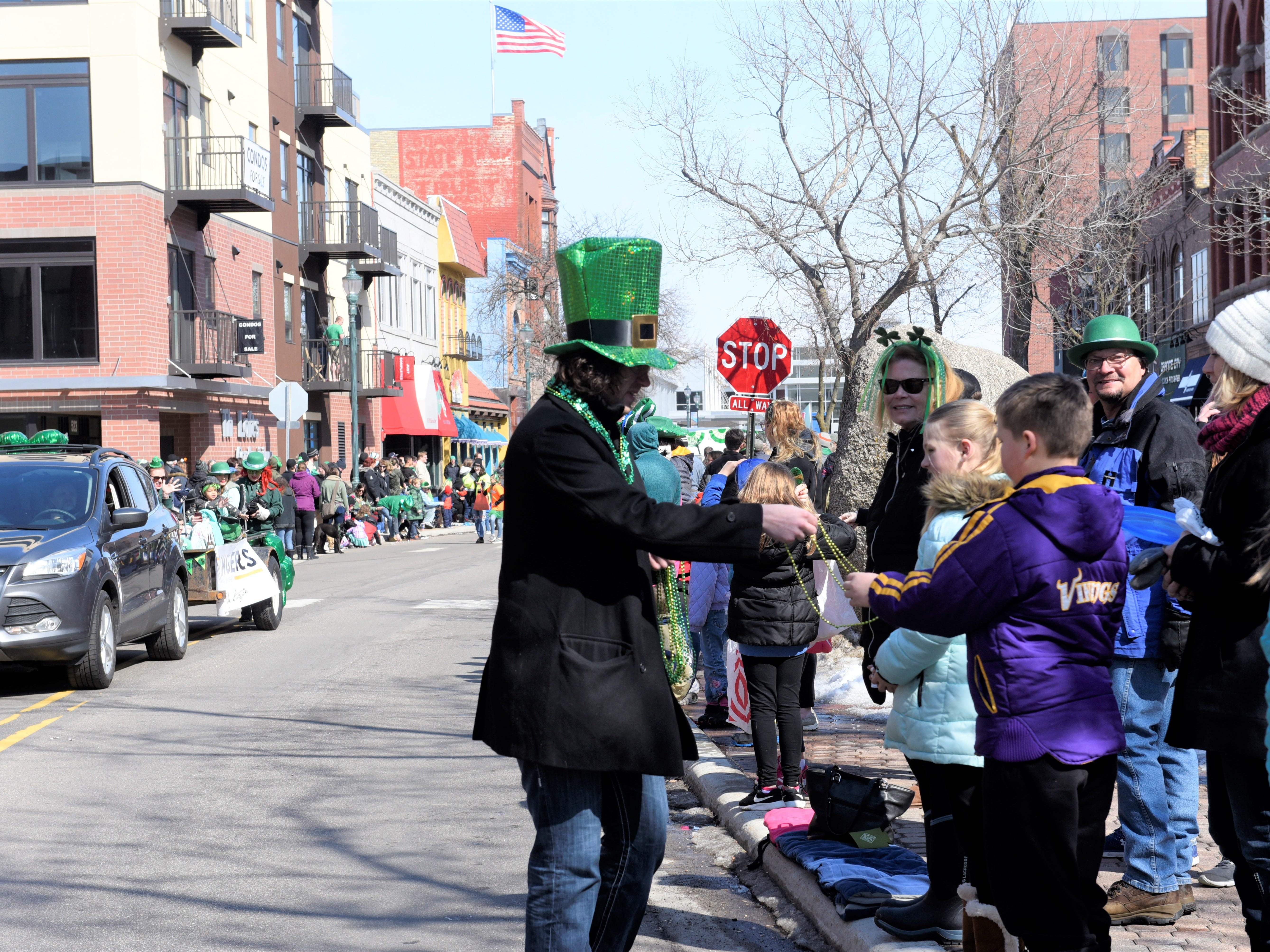 St. Cloud St. Patrick's Day parade, March 17, 2019.