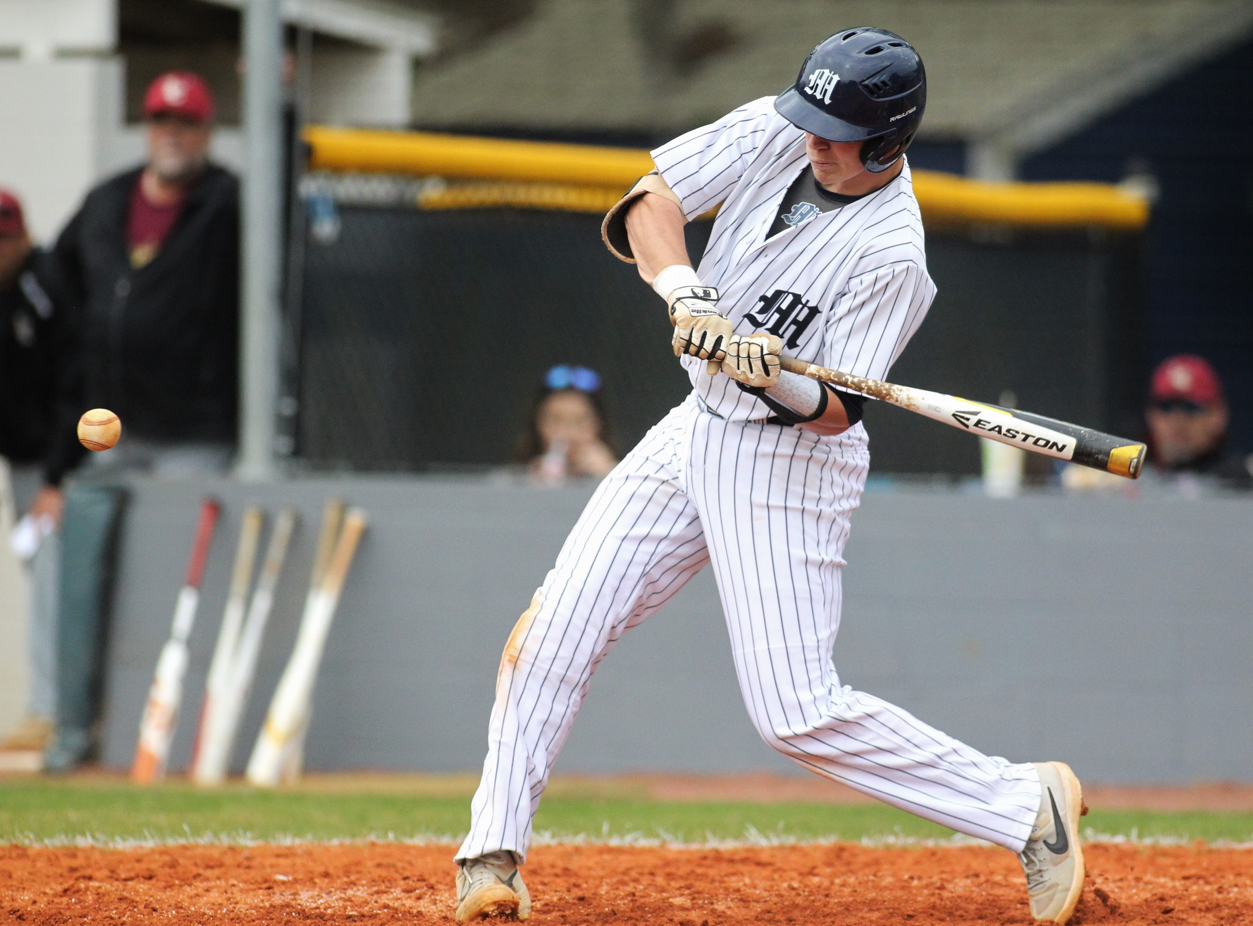 Maclay senior Jason Norris bats as Liberty County's baseball team went on the road to beat Maclay 8-2 on Saturday, March 16, 2019. The Bulldogs played their first game following their head coach Corey Crum's tragic death six days ago.