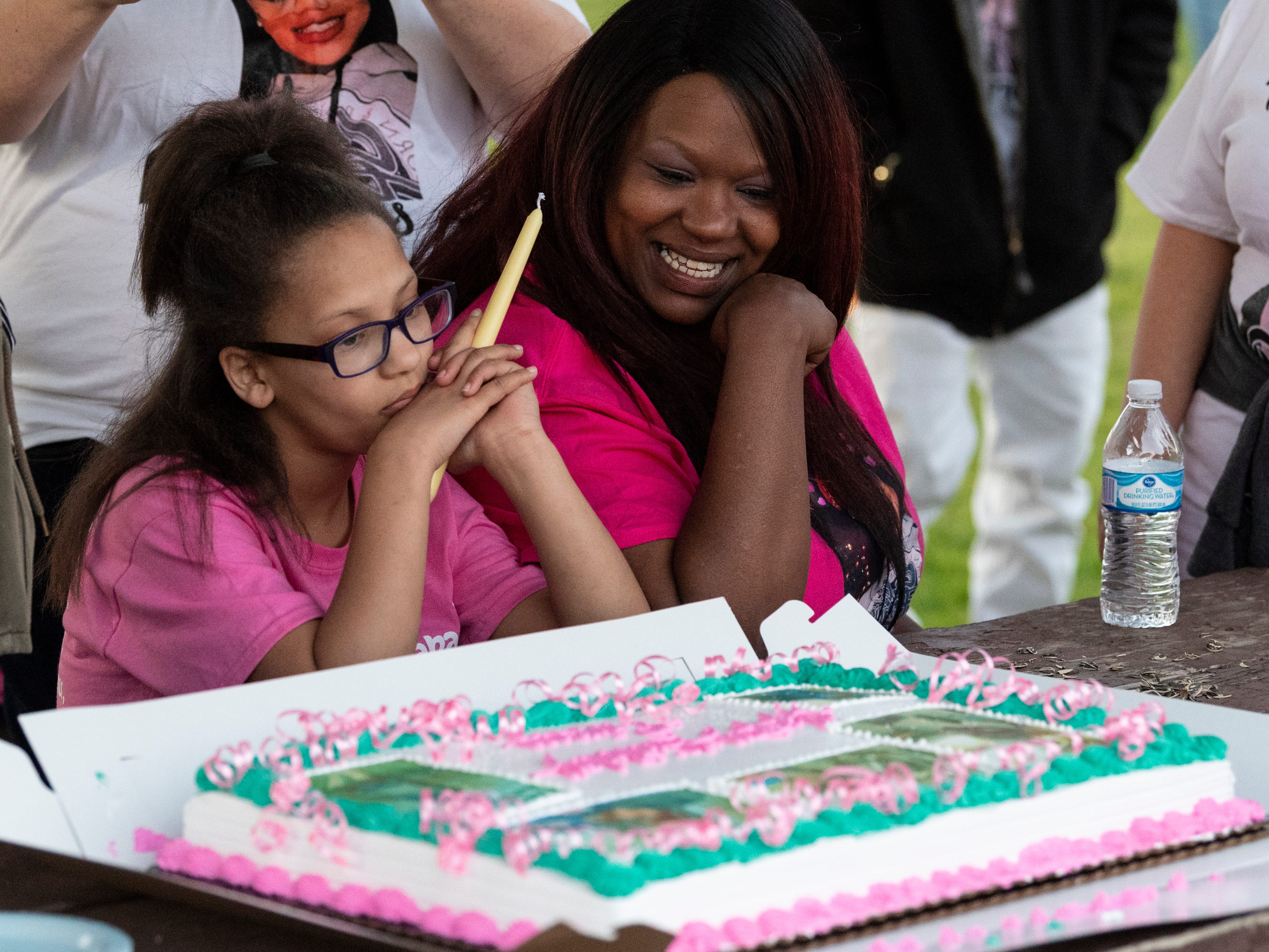 Family and friends of Dynasty Alexander gathered at Elk Bayou Regional Park on Saturday, March 16, 2019 for birthday cake and a candle light vigil in her memory. Alexander's body was found in an orchard outside of the city on March 3. She had been strangled and shot.