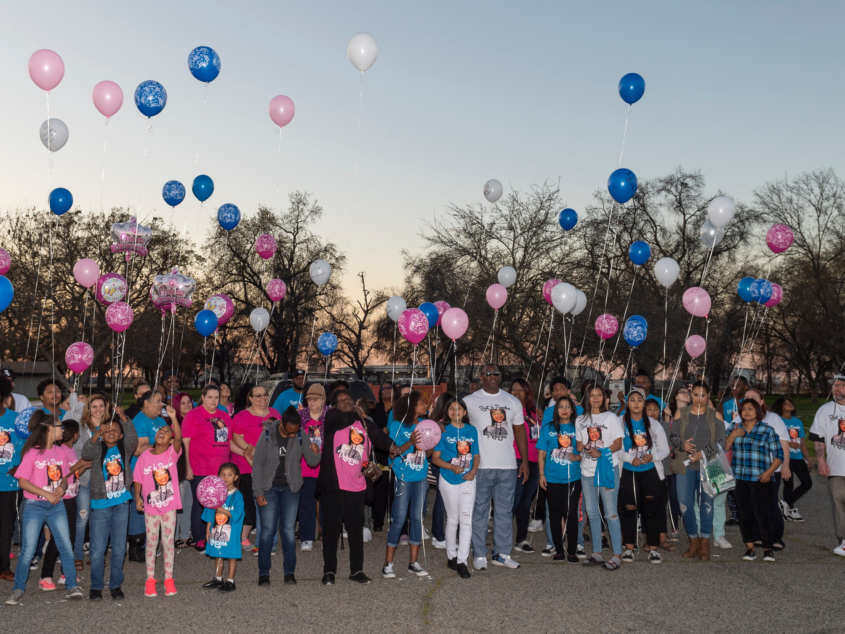 Family and friends of Dynasty Alexander gathered at Elk Bayou Regional Park on Saturday, March 16, 2019 for birthday cake and a candle light vigil in her memory. Messages on balloons were released after a moment of silence. Alexander's body was found in an orchard outside of the city on March 3. She had been strangled and shot.