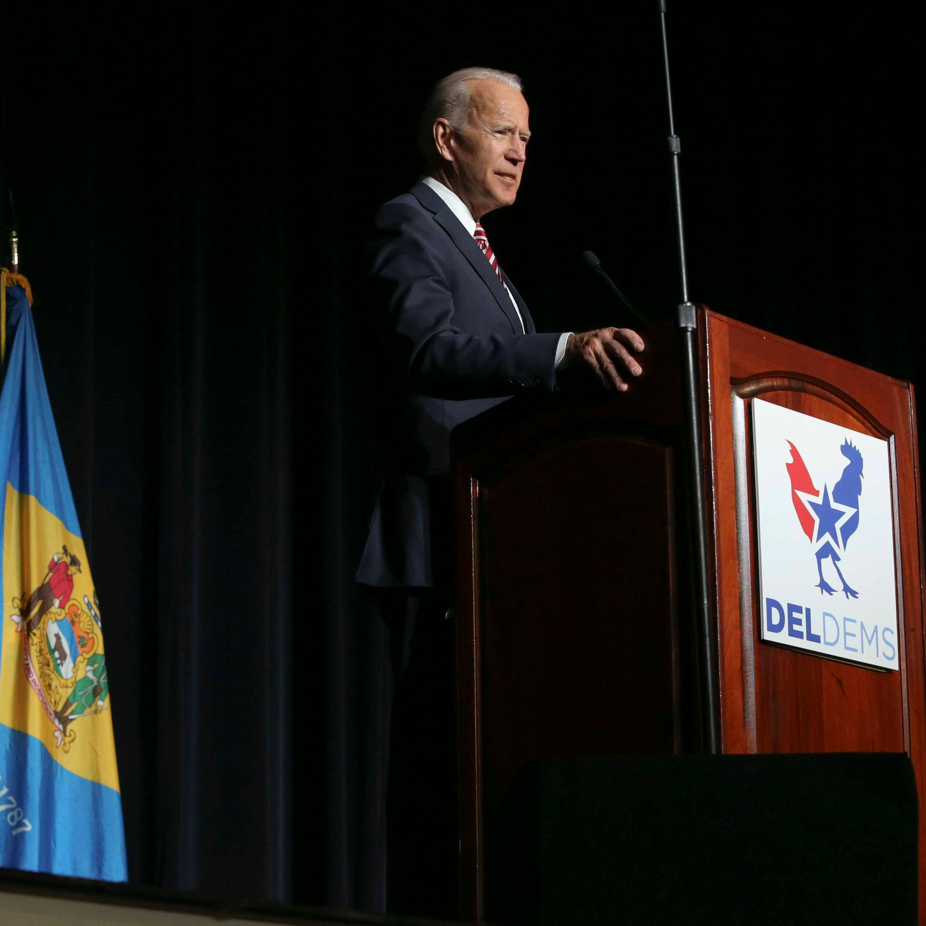 Joe Biden doesn't announce presidential candidacy, but says he has 'most progressive record'