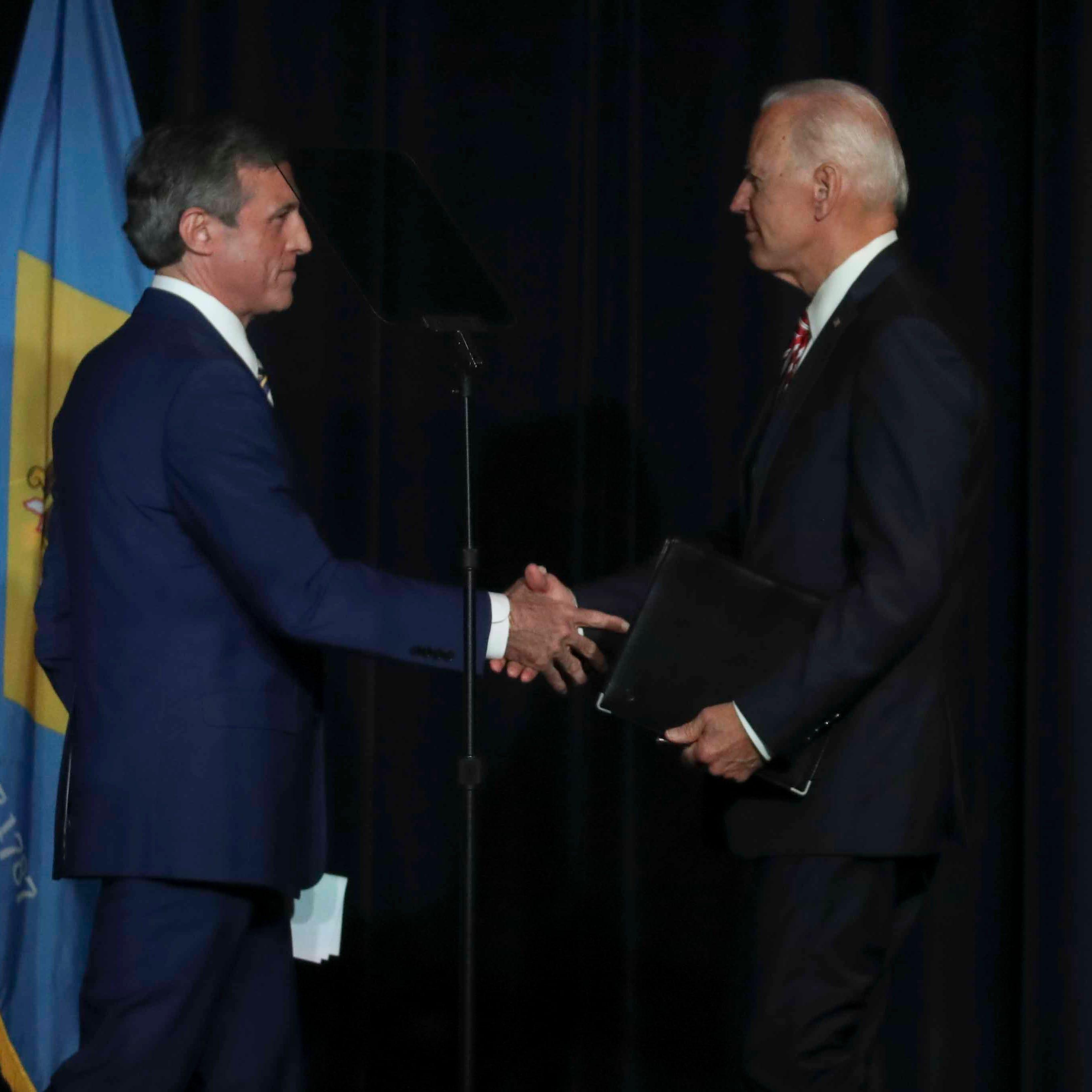Delaware Gov. John Carney defends Joe Biden in town hall amid debate over unwanted touching