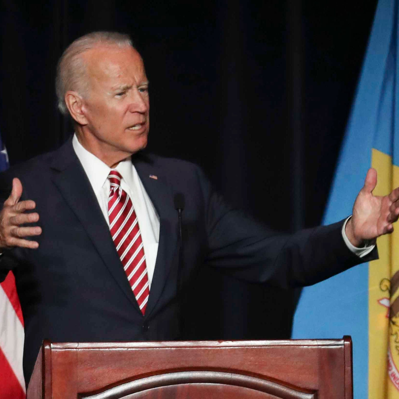 Trump targets Biden after verbal slip about 2020 presidential bid