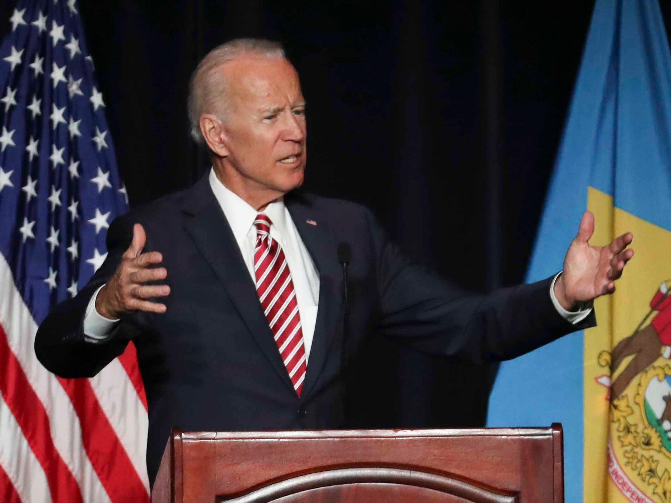 Trump targets Biden after verbal slip about 2020 presidential bid
