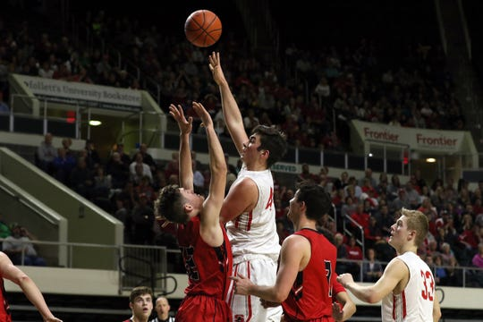 Sheridan's Grant Heileman scored 20 points in a win against New Philadelphia during the Division II regional finals on Saturday in Athens. The Generals will face Columbus South in their first-ever state tournament on Thursday in Columbus.