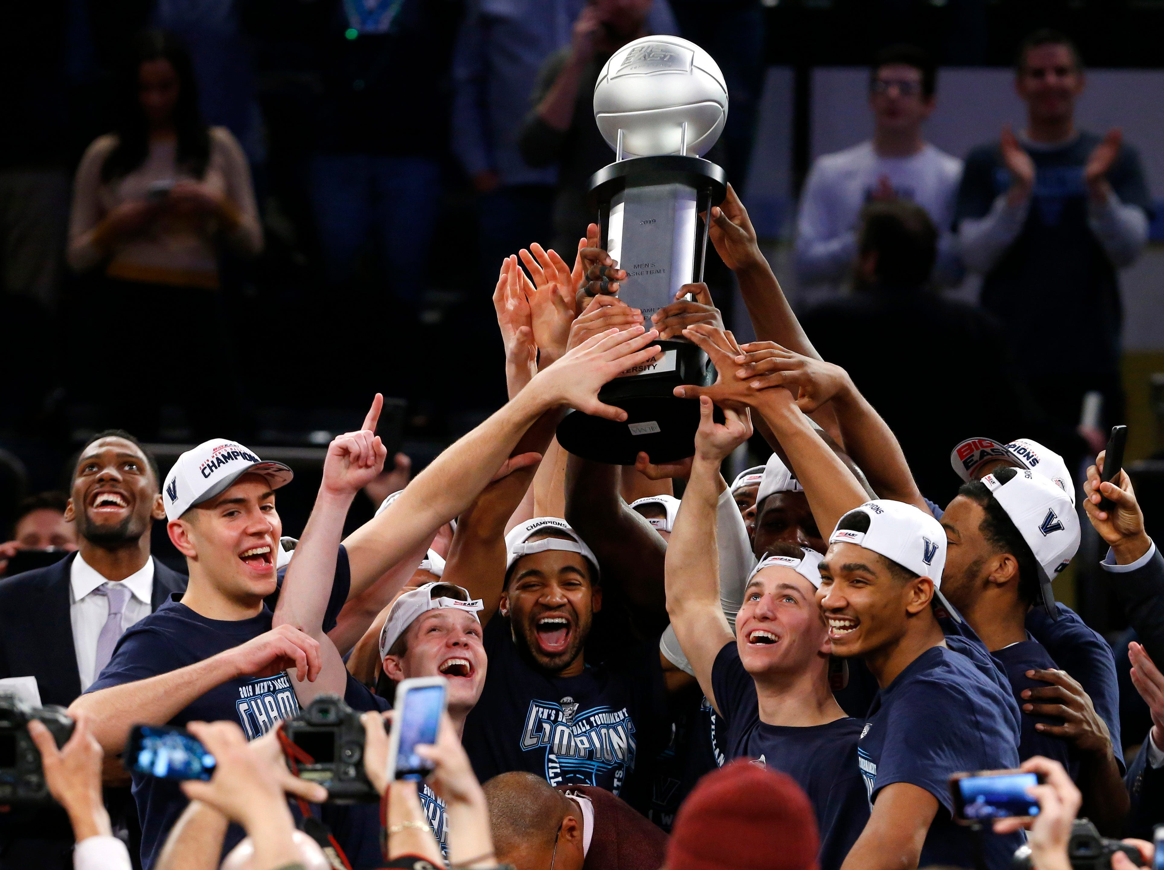 Villanova (25-9), No. 6 seed in South, Big East Conference champion