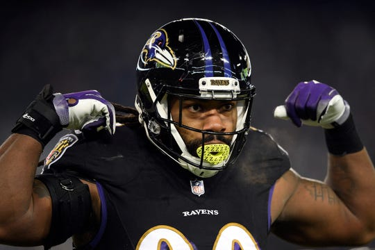 Za'Darius Smith had 8.5 sacks last season with the Ravens.