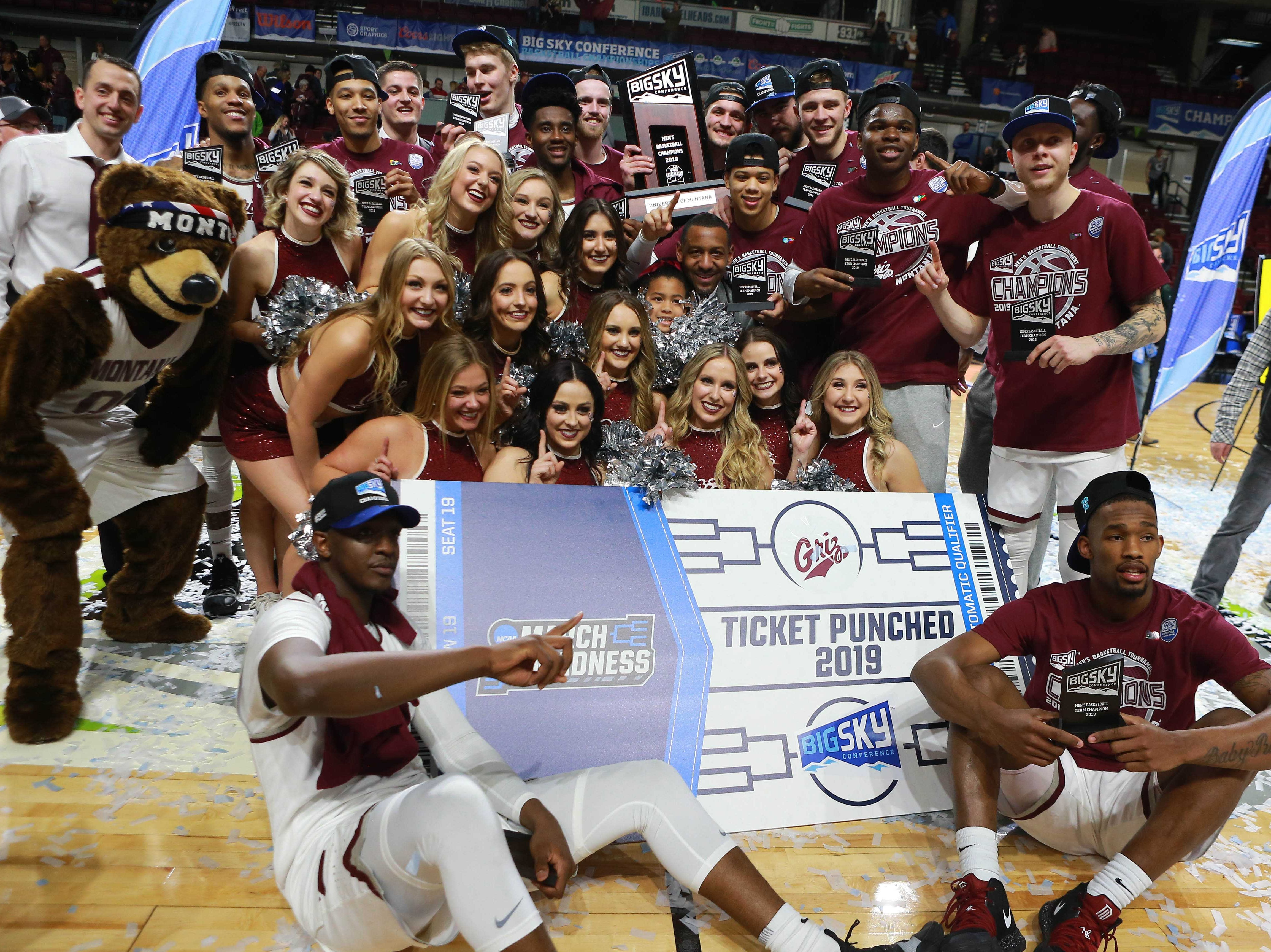Montana (26-8), No. 15 seed in West, Big Sky Conference champion