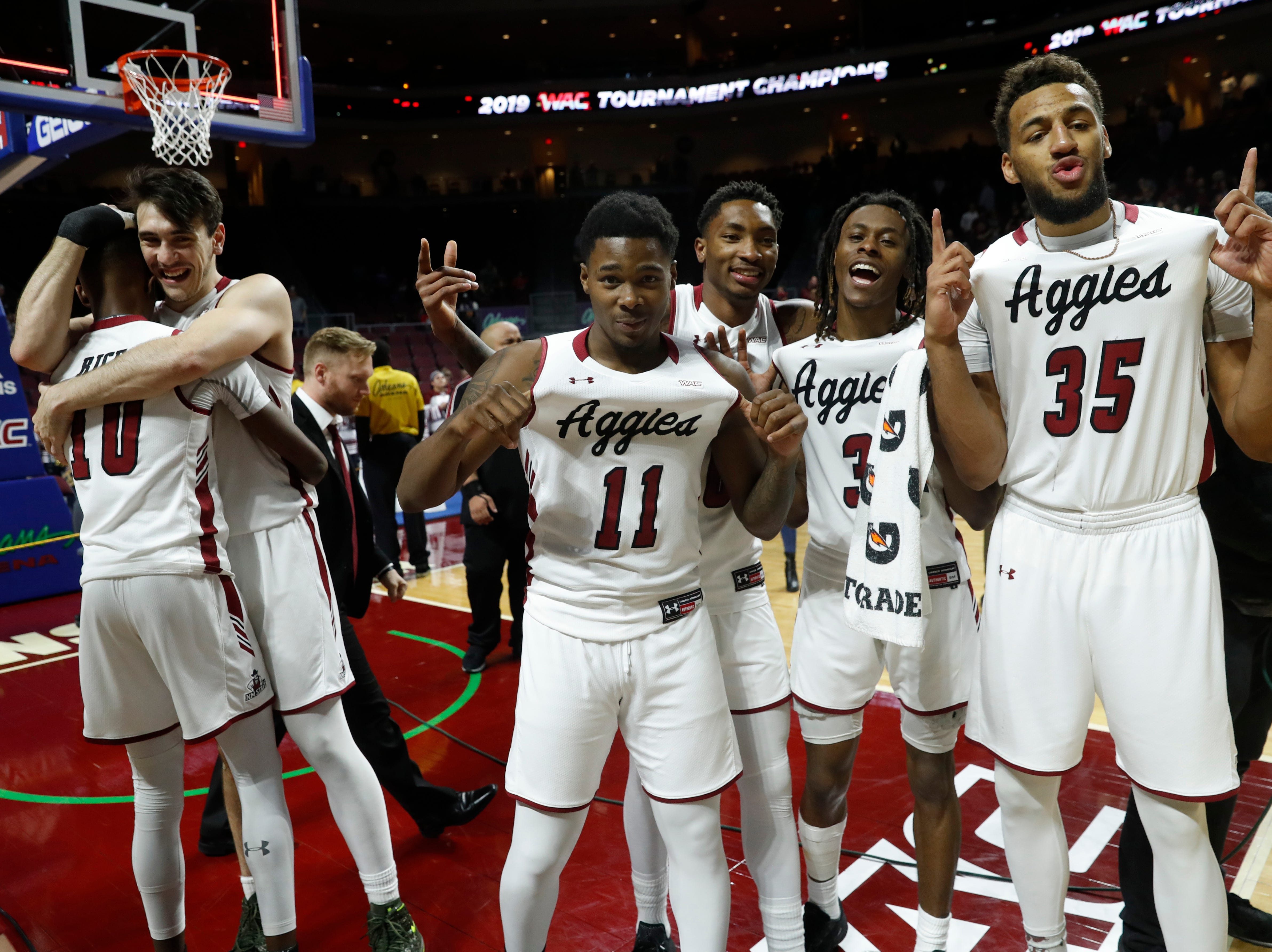 New Mexico State (30-4), No. 12 seed in Midwest, Western Athletic Conference champion