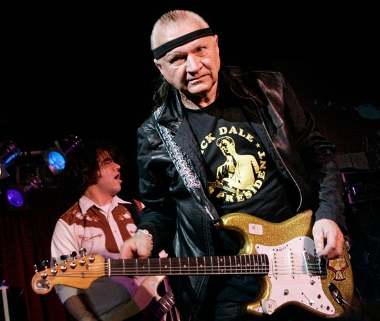 "Dick Dale, known as ""The King of the Surf Guitar,"" performs at B.B. King Blues Club in New York Sunday, May 27, 2007."