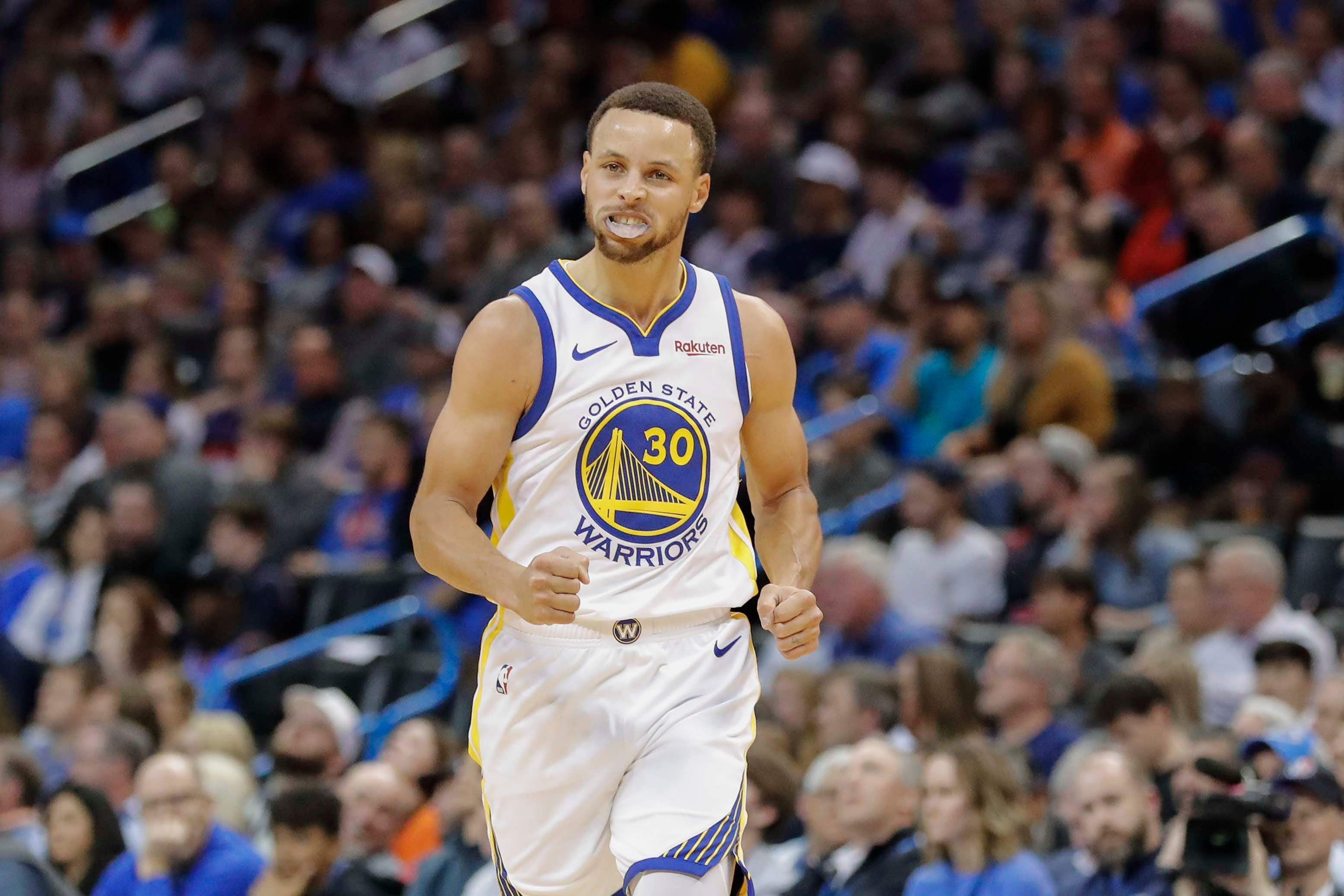 Struggling? Warriors roll past Thunder without Kevin Durant to clinch playoff spot