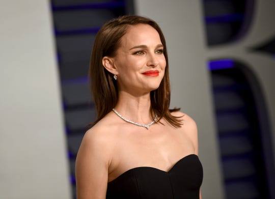 Natalie Portman arrives at the Vanity Fair Oscar Party on Sunday, Feb. 24, 2019, in Beverly Hills, Calif. (Photo by Evan Agostini/Invision/AP) ORG XMIT: CATO263