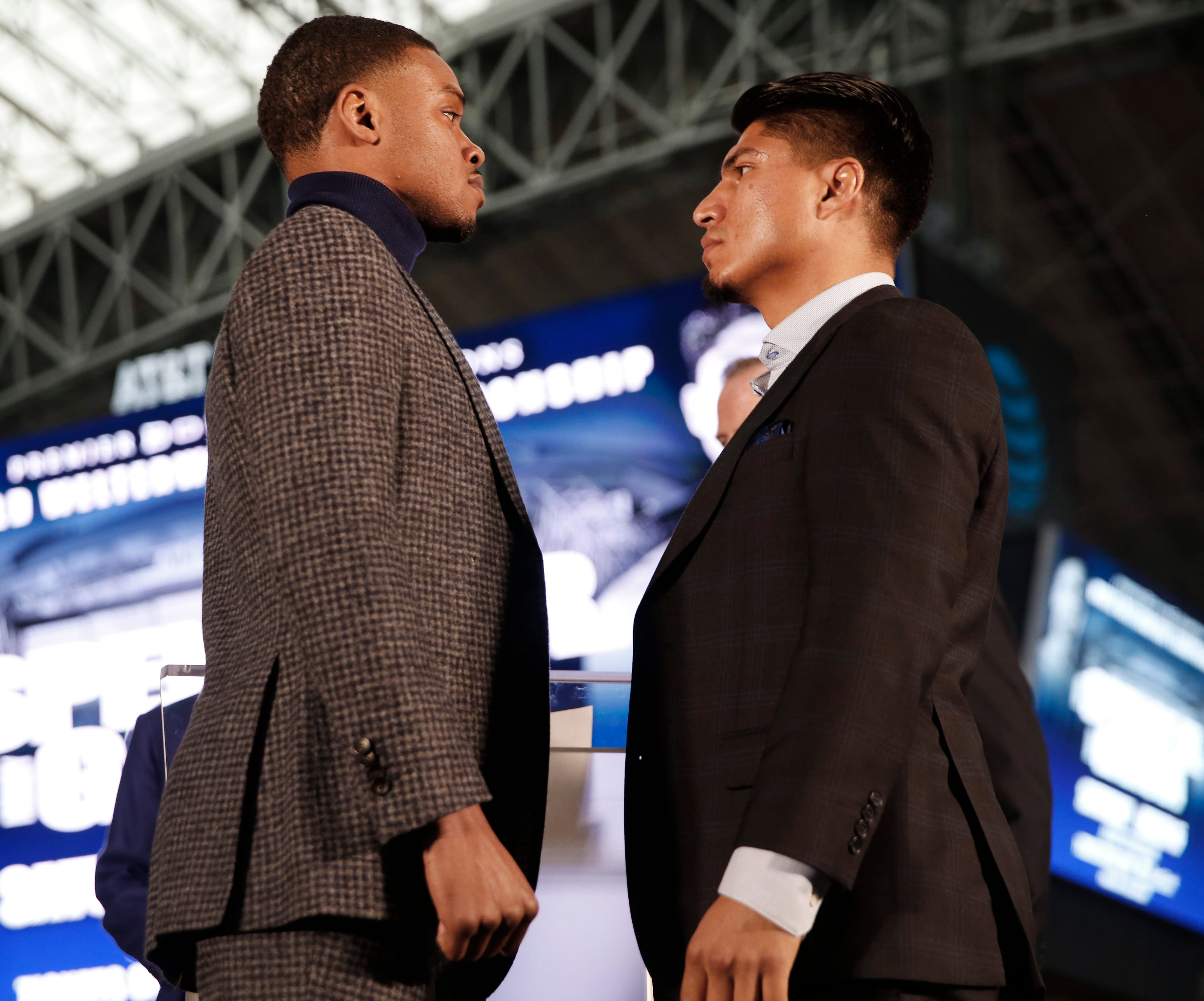 Errol Spence, left, and Mikey Garcia