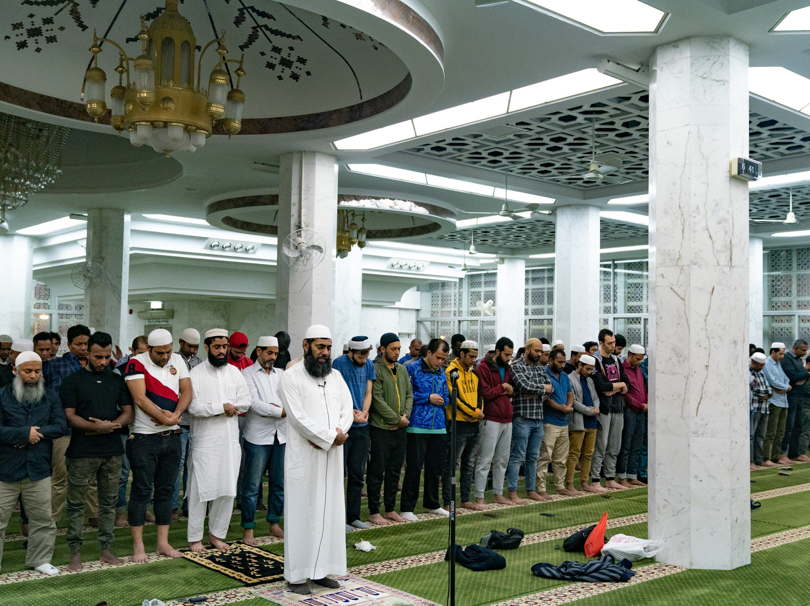 The Incorporated Trustees of the Islam Community Fund of Hong Kong Chief Iman, Mufti Muhammad Arshad, leads a special prayer at the Kowloon Masjid & Islamic Centre to commemorate victims of New Zealand mass shooting on March 16, 2019 in Hong Kong, China.