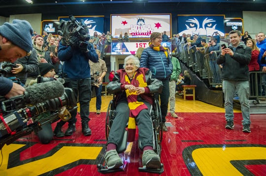 Loyola Ramblers team chaplain Sister Jean Dolores-Schmidt was one of the memorable figures from 2018's March Madness.