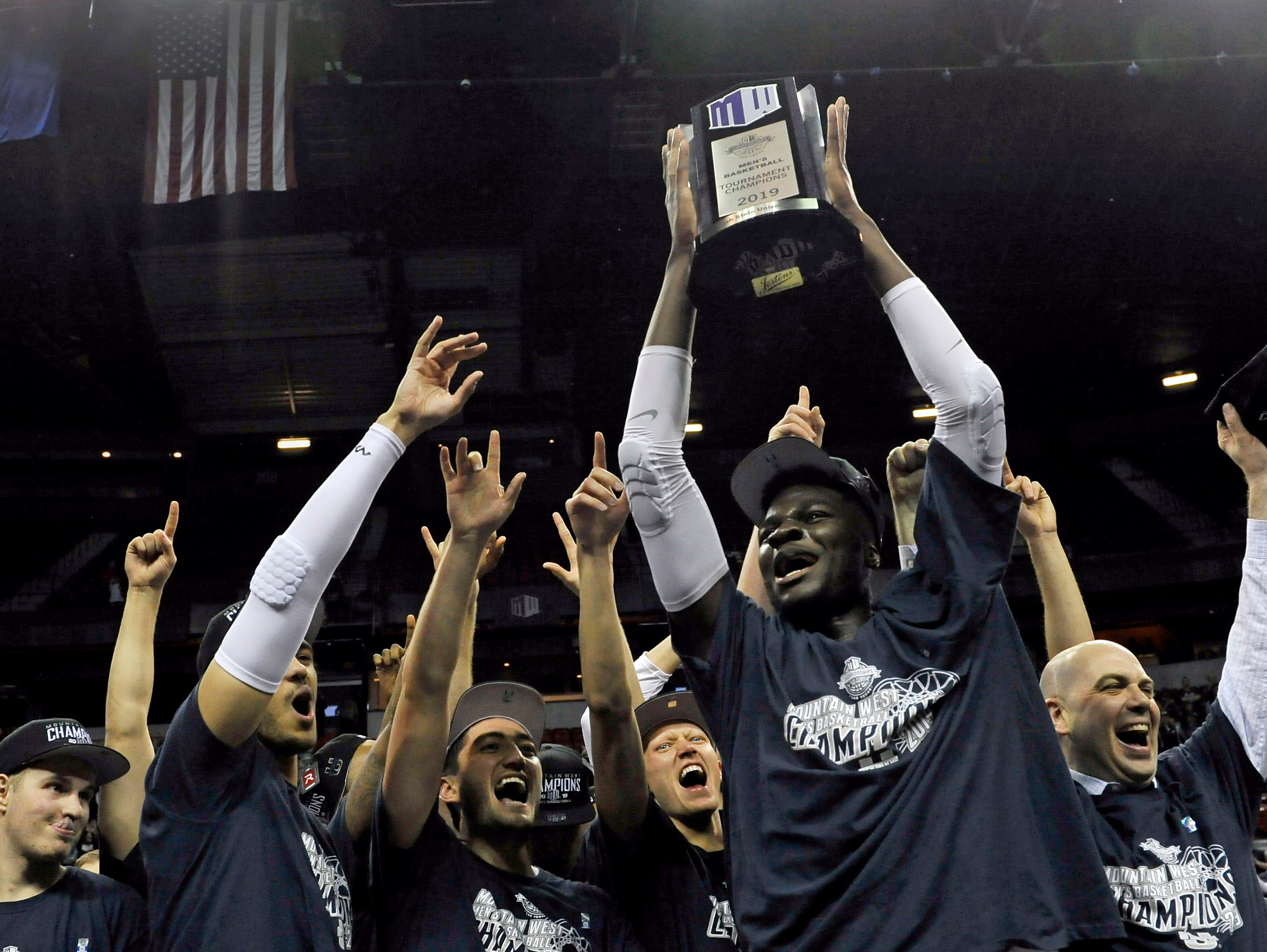 Utah State (28-6), No. 8 seed in Midwest, Mountain West Conference champion