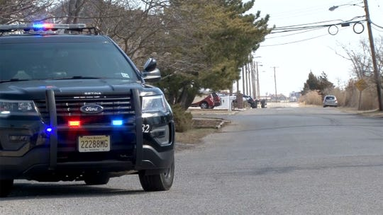 """Brick Township police limit access to Cadiz Drive on Monday, March 18, 2019, near where Anthony Comello, 24, the Staten Island man accused in the killing of reputed Gambino family boss Francesco """"Franky Boy"""" Cali, was arrested Saturday."""