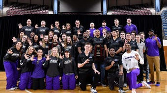 Men's and women's Abilene Christian University basketball team members were honored during Chapel for both making it to the NCAA tournaments.