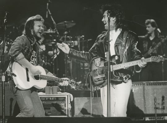 Travis Tritt and Marty Stuart on the Grand Ole Opry, 1991.