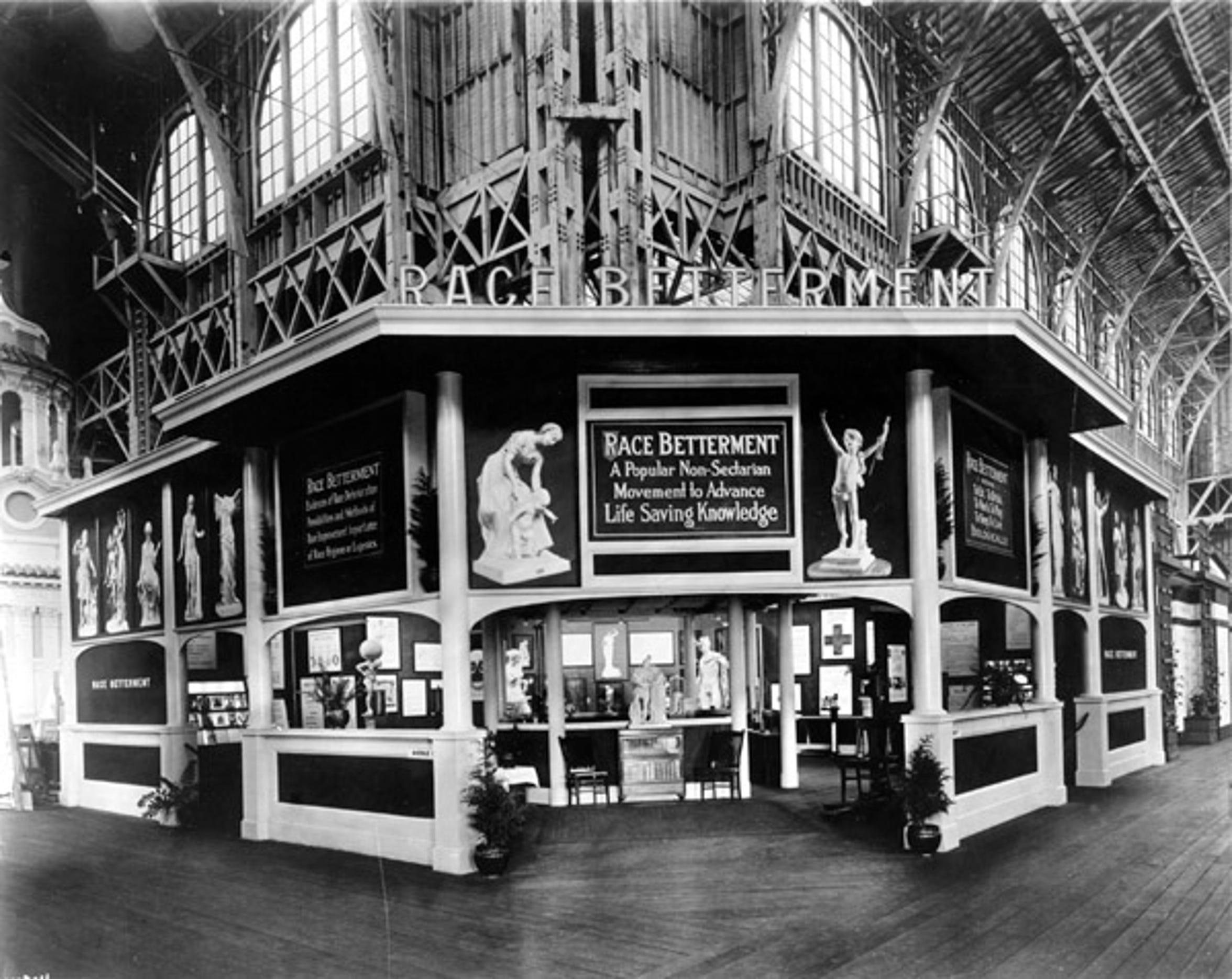 The Race Betterment Pavilion during the 1915 Panama-Pacific Exposition.