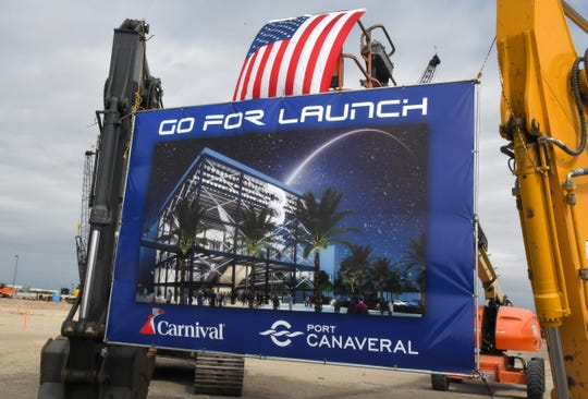 Christine Duffy, president of Carnival Cruise Line, was among the estimated 200 people attending the Cruise Terminal 3 groundbreaking ceremony at Port Canaveral, where the Carnival cruise ship Mardi Gras will make her home in 2020.