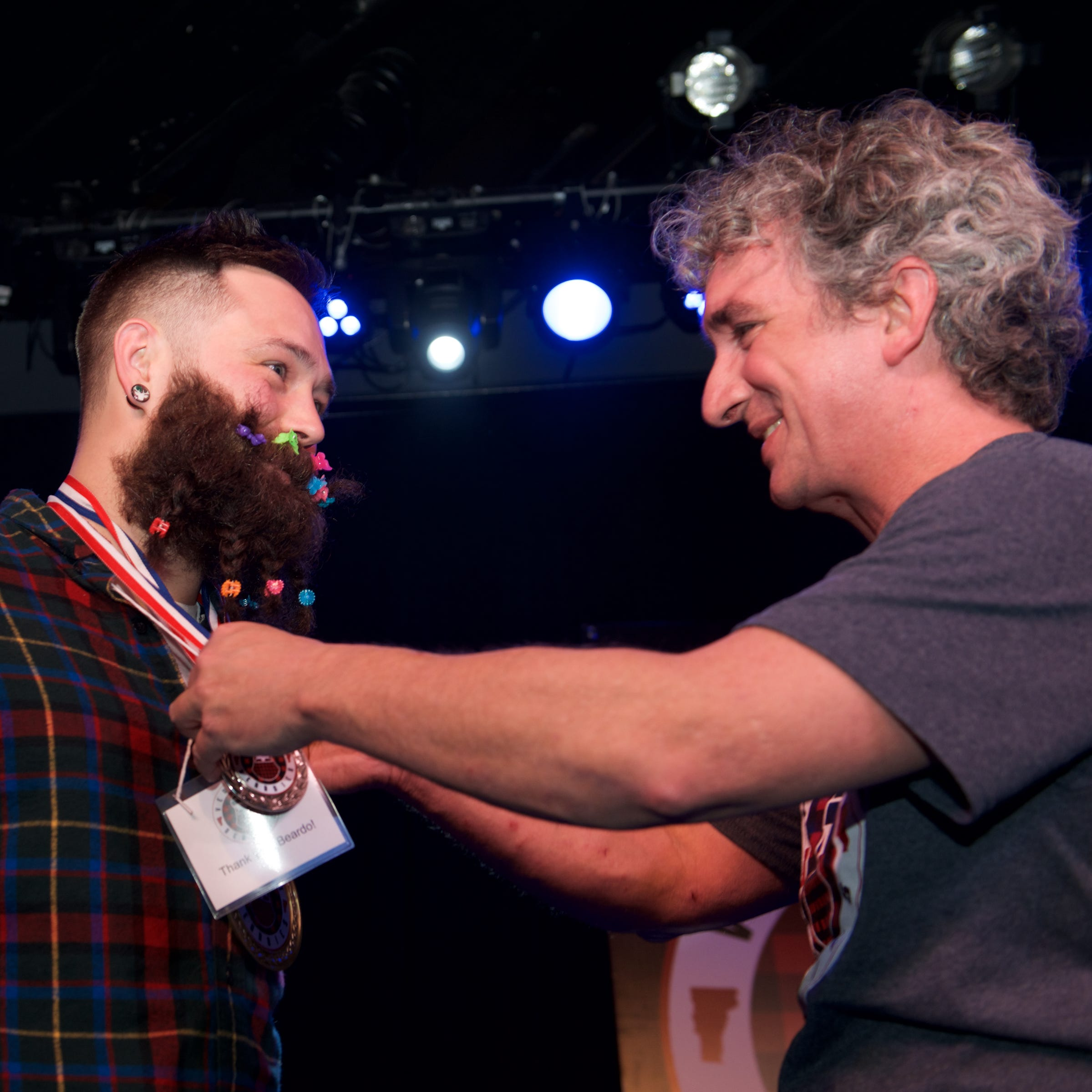 Bristol man wins third-annual Vermont Beardies, judged by 'The Most Interesting Man in the World'