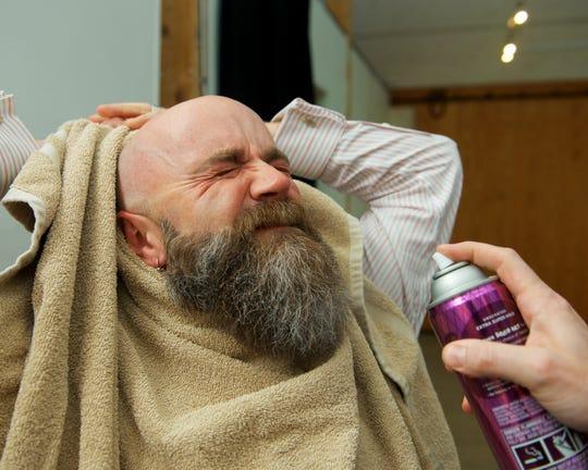 Jim Beebe-Woodard of Underhill won the best urban-style beard Saturday at the Vermont Beardies in Burlington.