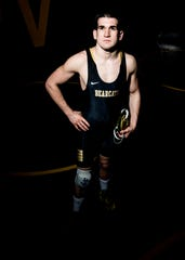 Paint Valley senior Adrian Salomone received his 100th career win against West Union's Chad Long during his first-round match during Division III sectionals at Blanchester High School. Salomone has been wrestling since first grade and wants to go to Wilmington College and study education. His other accolades include: 2016