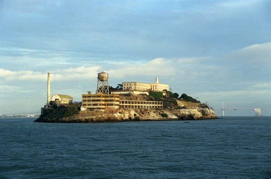 The Alcatraz island prison was closed in 1963, but remains a tourist site.