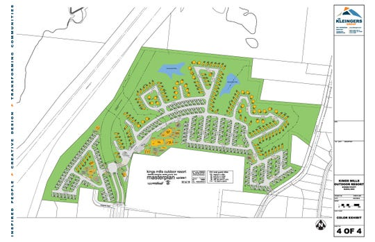 Here's a rendering of a camping resort proposed for a Deerfield Township site near Kings Island.