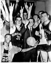 University of Cincinnati won its first NCAA basketball championship in 1961. The Bearcats stunned Jerry Lucas-led Ohio State, the defending champion, 70-65 in overtime in the 1961 title game.