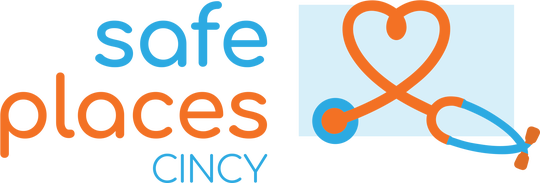 Safe Places Cincy logo will alert people with addiction to health center locations that can help link them to evidence-based treatment.