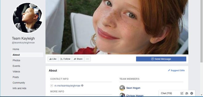 Kayleigh Hogan's family has a Team Kayleigh page that follows her battle with brain cancer.