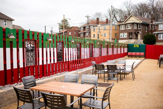 Sorrento's Italian Joint has a new outdoor bar and patio with a Bocce Ball court and a fire pit.