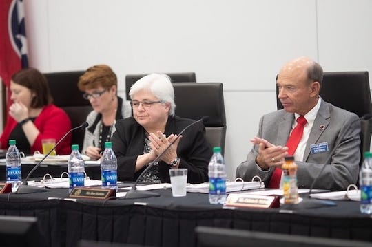Members of the Austin Peay State University Board of Trustees on Friday, March 15, 2019.