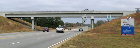 State Highway 374 currently ends at its intersection with Dover Road.